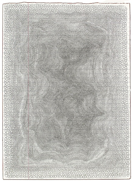 Lori Ellison, <em>Untitled</em>, 2014 &#150; 15. Pencil on notebook paper, 11  &times; 8 inches. Courtesy McKenzie Fine Art, New York.