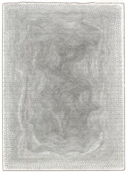 Lori Ellison, <em>Untitled</em>, 2014 – 15. Pencil on notebook paper, 11  × 8 inches. Courtesy McKenzie Fine Art, New York.