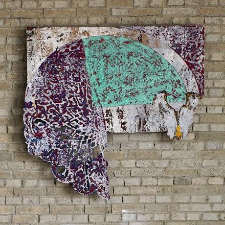 Ibrahim Ahmed, <em>Ard El Lewa #6</em>, 2015. Mixed media, dimensions variable.