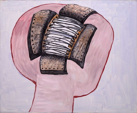 Philip Guston (1913 – 1980), <em>Head</em>, 1977. Oil on canvas, 176.8 × 215.7 cm,  The Museum of Modern Art, New York. Musa Guston Bequest, 1992 ©  The Estate of Philip Guston, New York.