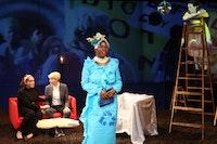 From left: Cecilia Gentili (background), Moe Angelos (background), Julienne