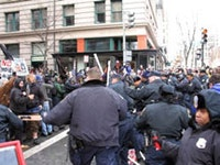 <i>Cops-o-rama outside the Bush inauguration. Photo by Christian Roselund.</i>