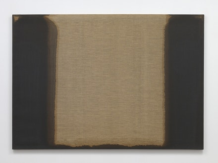 Yun Hyong-keun, <em>Umber-Blue</em>, 1978. Oil on linen, 51 1/8 x 72 7/8 inches. Courtesy Yun Seong-ryeol and Blum & Poe, Los Angeles/New York/Tokyo.