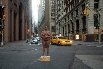 Nona Faustine, <i>From Her Body Sprang Their Greatest Wealth</i>, 2015, from the &quot;White Shoes&quot; series (2012 &#8211; present). Archival pigment print, 30 x 40 inches. Courtesy the artist.