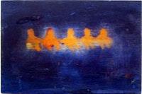 """<i>Katherine Bradford, """"Lake Sisters"""" (2004),  mixed media on panel.</i>"""