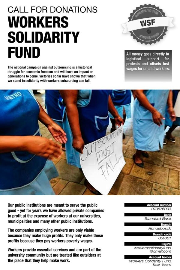 SPECIAL REPORT: SOUTH AFRICA #OutsourcingMustFall: Unity in