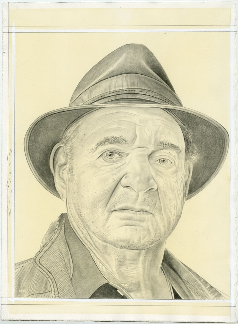 Portrait of the artist. Pencil on paper by Phong Bui. From a photo by Zack Garlitos.