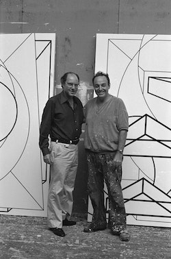 André Emmerich and Al Held in Boiceville, NY, 1973.