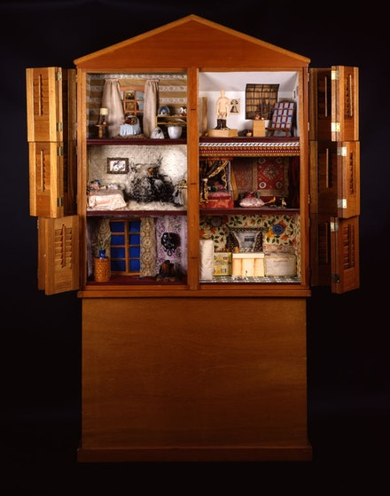 Miriam Schapiro, <em>Dollhouse</em>, 1972. Wood and mixed media, 79 3/4 × 82 × 8 1/2 inches.  © Miriam Schapiro. Courtesy the Smithsonian American Art Museum.