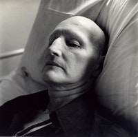 Peter Hujar, <em>Sidney Faulkner (II), Hospital</em>, 1981. Vintage gelatin silver print, 20 × 16 inches. © The Peter Hujar Archive, LLC.