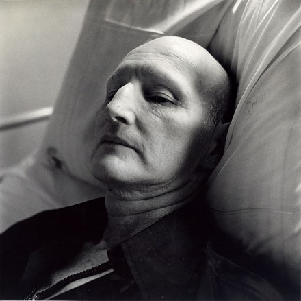 Peter Hujar, <em>Sidney Faulkner (II), Hospital</em>, 1981. Vintage gelatin silver print, 20×16 inches. © The Peter Hujar Archive, LLC.