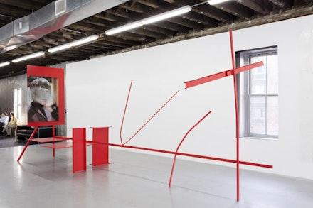 Installation view: <em>Henrik Olesen</em>, Reena Spaulings Fine Art, New York, January 24 – February 28, 2016. Courtesy the artist and Reena Spaulings Fine Art. Photo: Joerg Lohse.