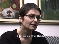 Anri Sala, <em>Intervista (Finding the Words)</em>, 1998 (still). Single-channel video, stereo sound, color; 26:39 min. © Anri Sala. Courtesy Idéale Audience International, Paris; Galerie Chantal Crousel, Paris; Johnen Galerie, Berlin; and Galerie Rüdiger Schöttle, Munich.
