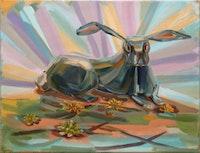 """Judith Linhares, """"Rabbit,"""" 2005. Courtesy Edward Thorp."""