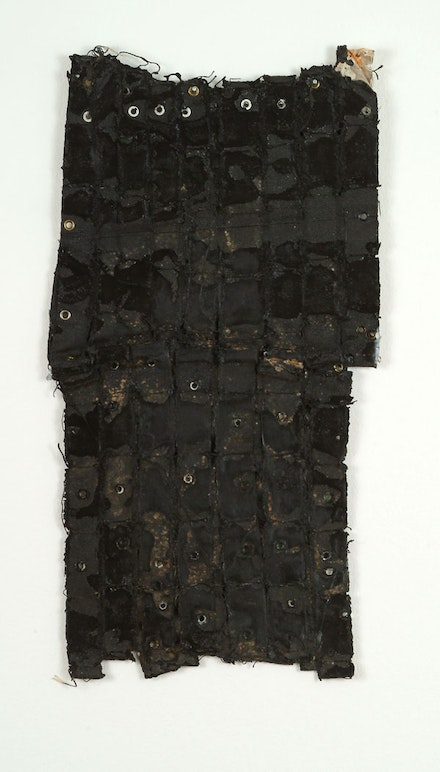 Louise Fishman, <em>Untitled</em>, 1971. Acrylic, glue, rubber, and grommets on canvas, 19 1/2 x 10 1/2 inches.