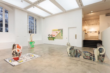 Installation view: <em>Betty Woodman: Theatre of the Domestic</em>, The Institute of Contemporary Arts, London, February 3 – April 10, 2016. Photo: Mark Blower­.