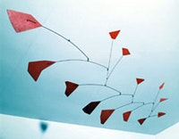 "<i>Alexander Calder (1898-1976), ""Red Polygons"" (1950), tin, wire, and paint. The Phillips Collection, Washington, D.C. ©2004 Estate of Alexander Calder/ Artists Rights Society (ARS), New York.</i>"