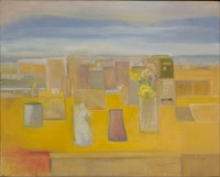 Jane Freilicher, <em>Yellow</em>, 2009. Oil on linen. 32 × 40 inches. Courtesy the artist.