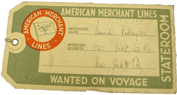 American Merchant Lines Ticket.