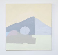 Etel Adnan,<em> Untitled</em>, 1985. Oil on canvas. 30 × 29 inches. Private collection. Courtesy Callicoon Fine Arts.