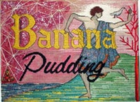 "<i>Nicolas Moufarrage, ""Banana Pudding"" (1983), needlepoint, glitter and jewelry.</i>"