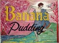 "<i>Nicolas Moufarrage, ""Banana Pudding"" (1983), needlepoint, glitter and jewelry.</i>"