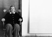 <i>Portrait of Agnes Martin in New Mexico, 1992. Photograph by Charles R. Rushton. Courtesy of PaceWildenstein.</i>