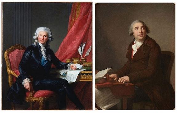 <em>Comte Charles Alexandre de Calonne</em>, 1784; <em>Giovanni Paisiello</em>, 1791.