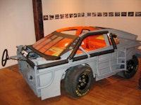 "Dan Devine, ""Inside-Out NASCAR,"" installation at Pierogi, Courtesy Pierogi."