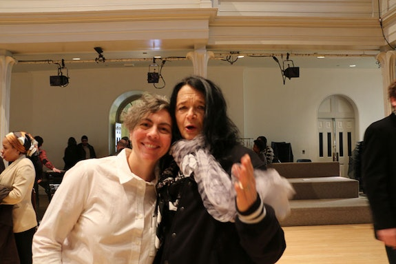 Stacy Szymaszek and Anne Waldman, April, 2014