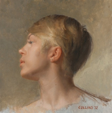 Jacob Collins, <i>Lilia</i>, 2012. Oil on canvas. 12 x 12 inches.