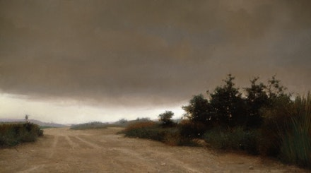 Jacob Collins, <i>Burma Road, Fire Island</i>, 2004. Oil on canvas. 30 x 54 inches.