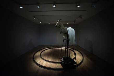Theaster Gates, <em>A Complicated Relationship Between Heaven and Earth, or, When We Believe</em>, 2014. Artes Mundi 6, National Museum, Cardiff, Wales. &copy; Theaster Gates. Courtesy Warren Orchard.