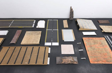Park McArthur, <em>Ramps</em>, 2010 – 14. Installation View: ESSEX STREET, New York. Courtesy the artist and ESSEX STREET.