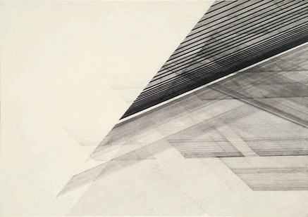 Nasreen Mohamedi, <em>Untitled</em>, ca. 1975. Ink and graphite on paper. 20 x 28 inches. Sikander and Hydari Collection.