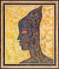 Beauford Delaney, <em>The Eye</em>, 1965. Oil on canvas. 25 2/3 × 21 1/4 inches. © Estate of Beauford Delaney, by permission of Derek L. Spratley, Esquire.
