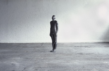 Antony Gormey, <i>Bridge</i>, 1985. Lead, fiberglass, plaster, and air. 191 x 50 x 35 cm. © Antony Gormley. Courtesy Sean Kelly, New York.