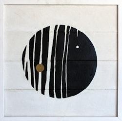 Lol&oacute; Soldevilla, <em>Carta celeste: noches en el cosmos [Celestial Letter: Nights in the Cosmos]</em>, 1958. Oil on canvas. 26 3/4 x 27 1/2 inches. &copy; Lol&oacute; Soldevilla. Photo: Fernanda Torcida. Courtesy of Pan American Art Projects, Miami.
