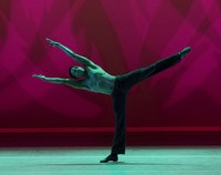 Jeroboam Bozeman in Alvin Ailey's <em>Revelations</em>. Photo: Paul Kolnik.