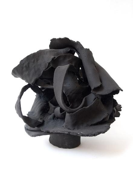Joanne Greenbaum, <em>Untitled</em>, 2016. Gouache on polymer air dry clay. 10 x 10 x 10 inches. Courtesy the artist and Rachel Uffner Gallery.