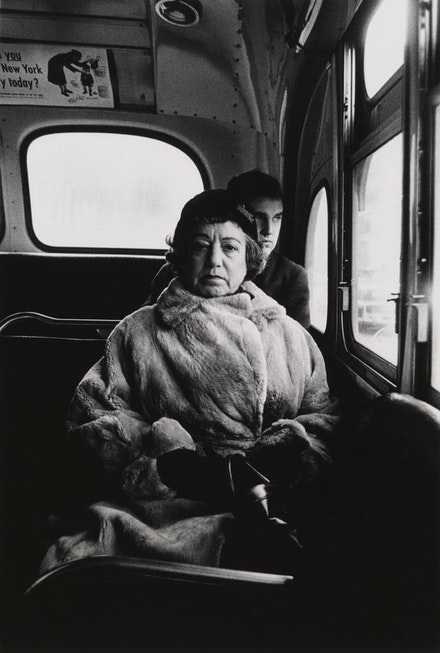 Diane Arbus, <em>Lady on a bus, N.Y.C.</em>, 1957. © The Estate of Diane Arbus, LLC. All Rights Reserved. Courtesy The Metropolitan Museum of Art.