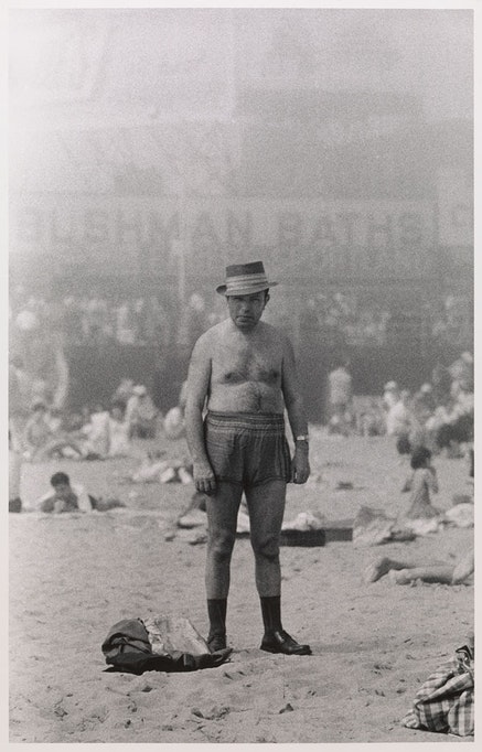Diane Arbus, <em>Man in hat, trunks, socks, and shoes, Coney Island, N.Y.</em>, 1960. &copy; The Estate of Diane Arbus, LLC. All Rights Reserved. Courtesy The Metropolitan Museum of Art.