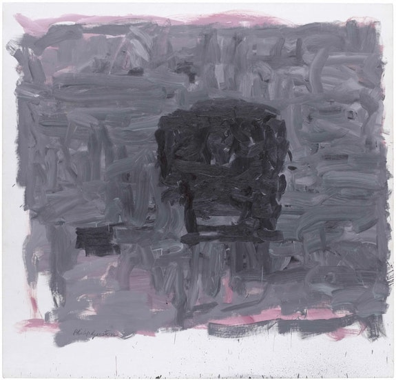 Philip Guston, <em>Inhabiter</em>, 1965. Oil on canvas. 76 1/8 x 79 1/4 inches. Courtesy The Museum of Modern Art, New York. Gift of Edward R. Broida, 2005. Photo: John Wronn.