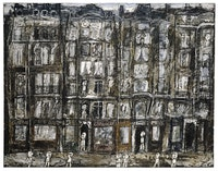 Jean Dubuffet,<em>Façades d'immeubles [Apartment Houses, Paris]</em>,July 1946. Oil with sand and charcoal on canvas. 44 7/8 x 57 3/8 inches. The Metropolitan Museum of Art, New York; Bequest of Florene M. Schoenborn, 1995 (1996.403.15). Image copyright © The Metropolitan Museum of Art. Image source: Art Resource, NY /Art©2016 Artists Rights Society (ARS), New York / ADAGP, Paris.
