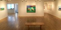 Installation view: <em>Louisa Matthíasdóttir: Icelandic Landscapes</em> and <em>Hildur Ásgeirsdóttir Jonsson: Woven Works</em>. Tibor de Nagy Gallery, May 5 – June 17, 2016. Courtesy Tibor de Nagy Gallery