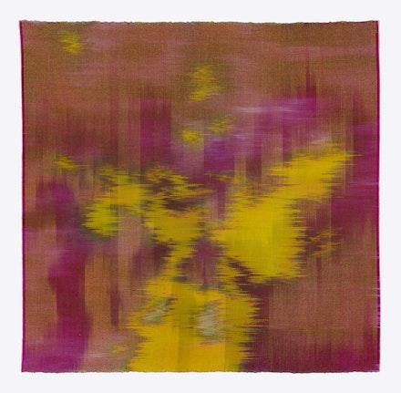 Hildur &Aacute;sgeirsd&oacute;ttir Jonsson, <em>Lichen 2</em>, 2016. Silk and dyes. 27 x 28 inches. Courtesy Tibor de Nagy Gallery.