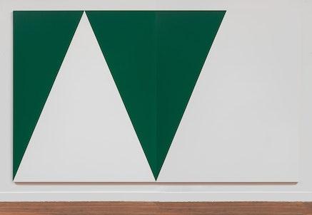 Carmen Herrera, <i>Alpes</i>, 2015. Acrylic on canvas. 120 x 70 inches. &copy; Carmen Herrera. Courtesy Lisson Gallery.