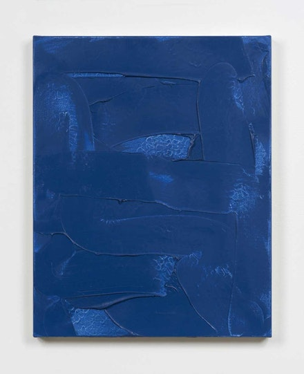 <body> Robert Bordo, <em>Denim #1, </em>1996. Oil on canvas. 29 x 24 inches. Courtesy Bortolami Gallery. </body>