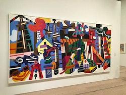 Stuart Davis, Swing Landscape, at the Whitney. Photo by George Grella.