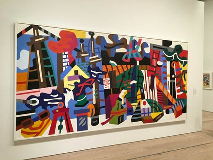 Stuart Davis, Swing Landscape, at the Whitney. Photo by George Grella.